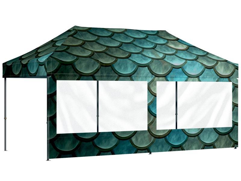G+K Faltpavillon 3x6 Meter indivividuell bedruckt