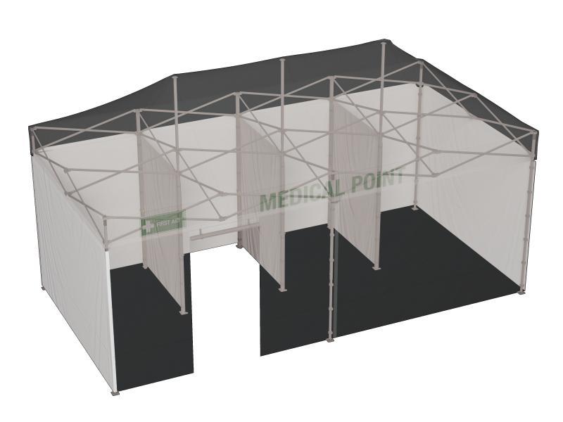 Untersuchungszelt 3x6 Meter MT Premium